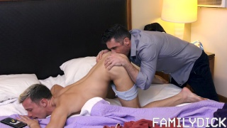 fauxcest with Lance Hart fucking Logan Cross at Family Dick