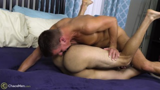 bearded guy loves daddies and this one has muscles too