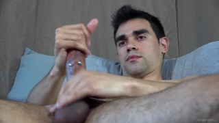 chiseled stud makes his cock harder & harder
