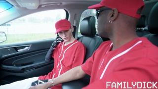 baseball player sucks his coach's cock in the car