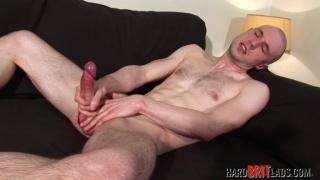 bisexual british skinhead jerks his uncut cock