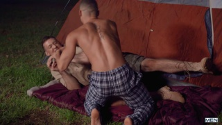 guy gets fucked by a big dick on his camping trip