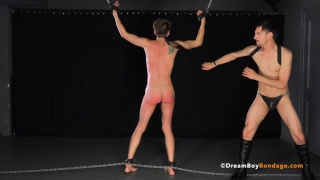 twink gets his ass beaten & fingered by master