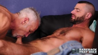 flip-fucking with Dallas Steele and Jake Morgan at Bareback That Hole