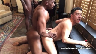 Alessio Vega gets tag teamed by Max Konnor & Avatar Akyia at Raw Fuck Club
