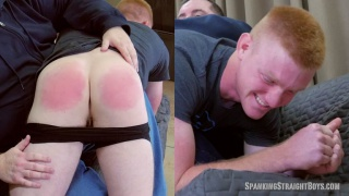 Liam caffrey Over the Knee at Spanking Straight Boys
