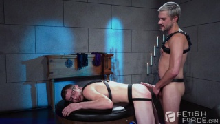 waiting for their daddy to arrive, two horny boys begin to play