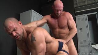 guys slides into buddy's soft round cheeks & fucks him deep