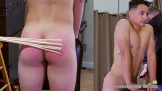 Dex's First Spanking at Spanking Straight Boys