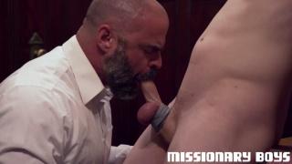 mormon priest reams boy's tight ass & sucks his cock