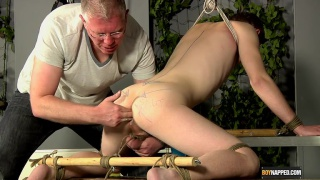 Old guy abuses a twink hole