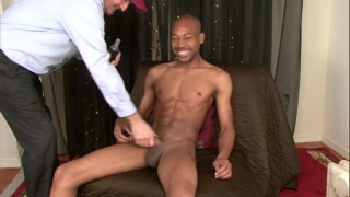 shy black stud gets handjob