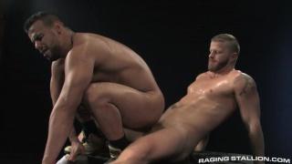 brazilian bottom riding bearded man's cock