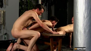 hung lads use a buddy's mouth and ass