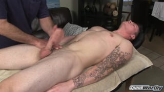 Massaging hot straight 18yo guy Lucas