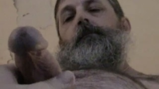 bearded redneck truck driver beating off