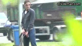 guy caught taking a roadside piss