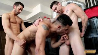 Johnny Torque, Silas O'Hara & Rocco Russo at next door buddies