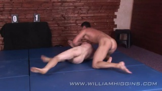 after 12 rounds, wrestlers jack off