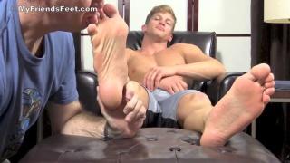 worshipping mike's big feet