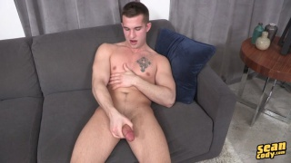 parker rubs one out of his fat cock
