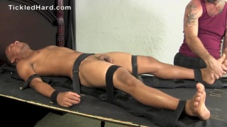 Nathan tied up and tickled