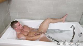 Matthew Cox Jacking in Bathtub