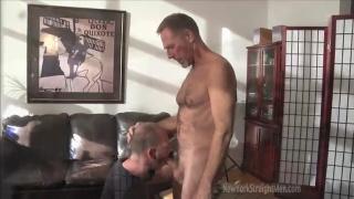 furry mature man gets head