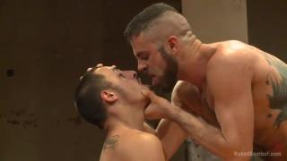 nude wrestlers Rico Romero and Marcus Isaacs