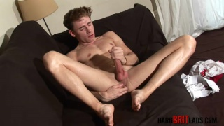 Oscar Roberts plays with his big dick