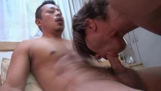 Asian man fucked in a jock