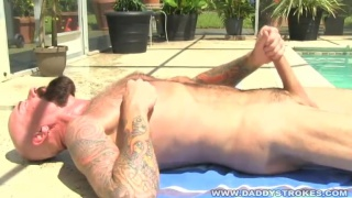 Bearded Daddy's Poolside Stroking