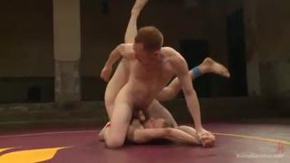 nude wrestlers Damien Moreau vs Liam Harkmoore