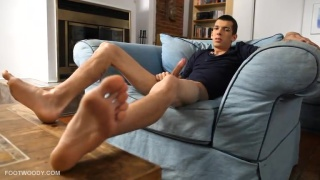 Cute Axel shows his bare soles
