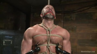 bound dirk caber gets cock edged