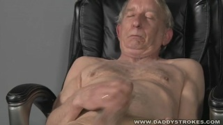 very old man beating off