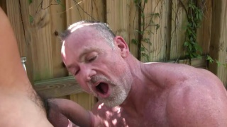 Eddie Kordova and Mickie Collins fuck outdoors