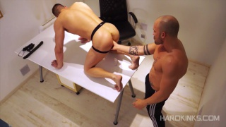 executive gets hard fuck from his personal trainer