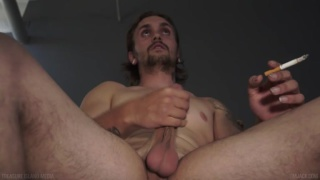 scruffy guy james jacking his dick