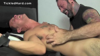 Beefy straight victor gets tickled