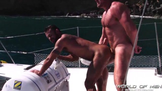 Hairy hunks fucking outdoors