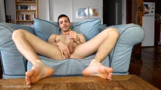 French Canadian Hunk with a killer smile and bare feet