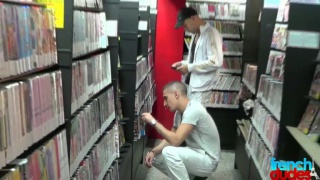 Chavs hook up in a video shop