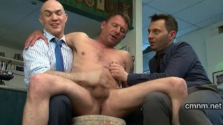 Naked groping from suited guys