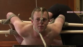 Hetero guy tied and used and abused for sex