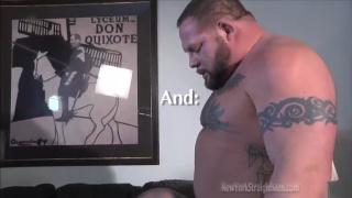 beefy bodybuilder gets head