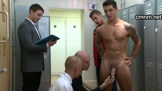 star footballer gets locker room exam