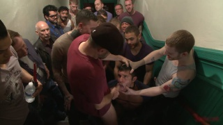 seth santaro gets banged by crowd of men