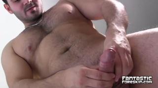 colombian cub leonardo plays with foreskin