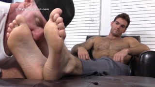 Chase at My Friends Feet